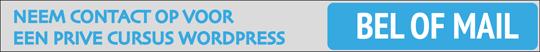 Persoonlijke cursus wordpress